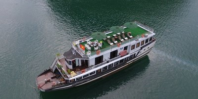 [Free&Easy Hạ Long] Du thuyền 3* Legend White Dolphin  Cruises (8 Cabins)